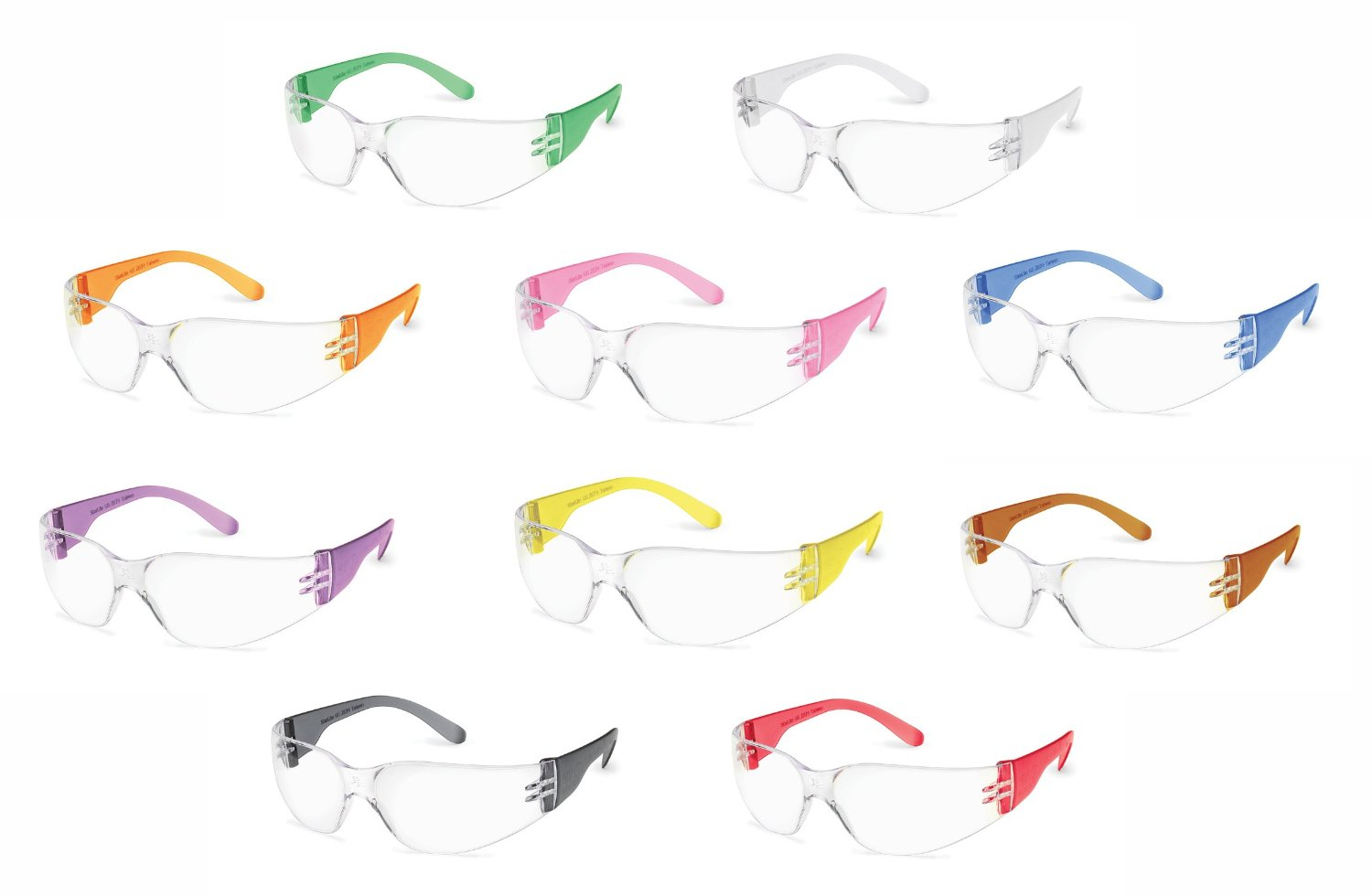 Gateway Colorful StarLite Gumball Safety Glasses (Pack of 10)