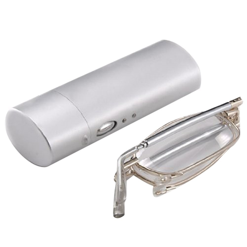 Super Slim Mini Flip Top Eyeglasses with Stylish Case