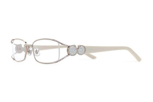 Jimmy Crystal Rimless Reading Glasses with Swarovski Rhinestones