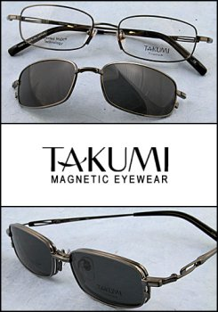 Takumi Prescription Eyewear with Magnetic Sunclip