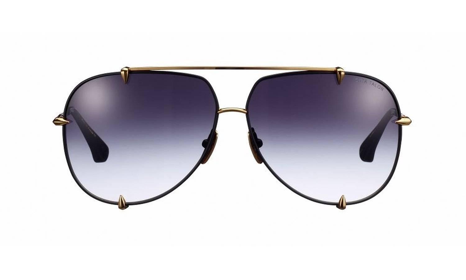 Dita Talon Satin Black 18k Gold Grey to Clear Lenses