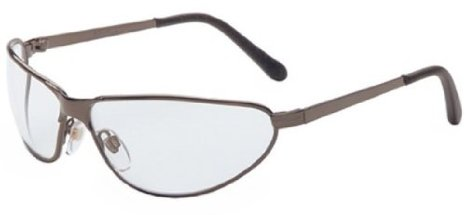 Uvex Tomcat Safety Eyewear with Gunmetal Frame and Clear Hardcoat Lens