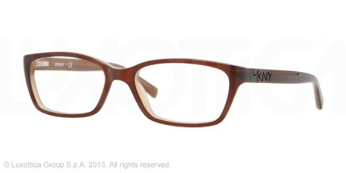 Donna Karan Top Brown on Beige Eyeglasses