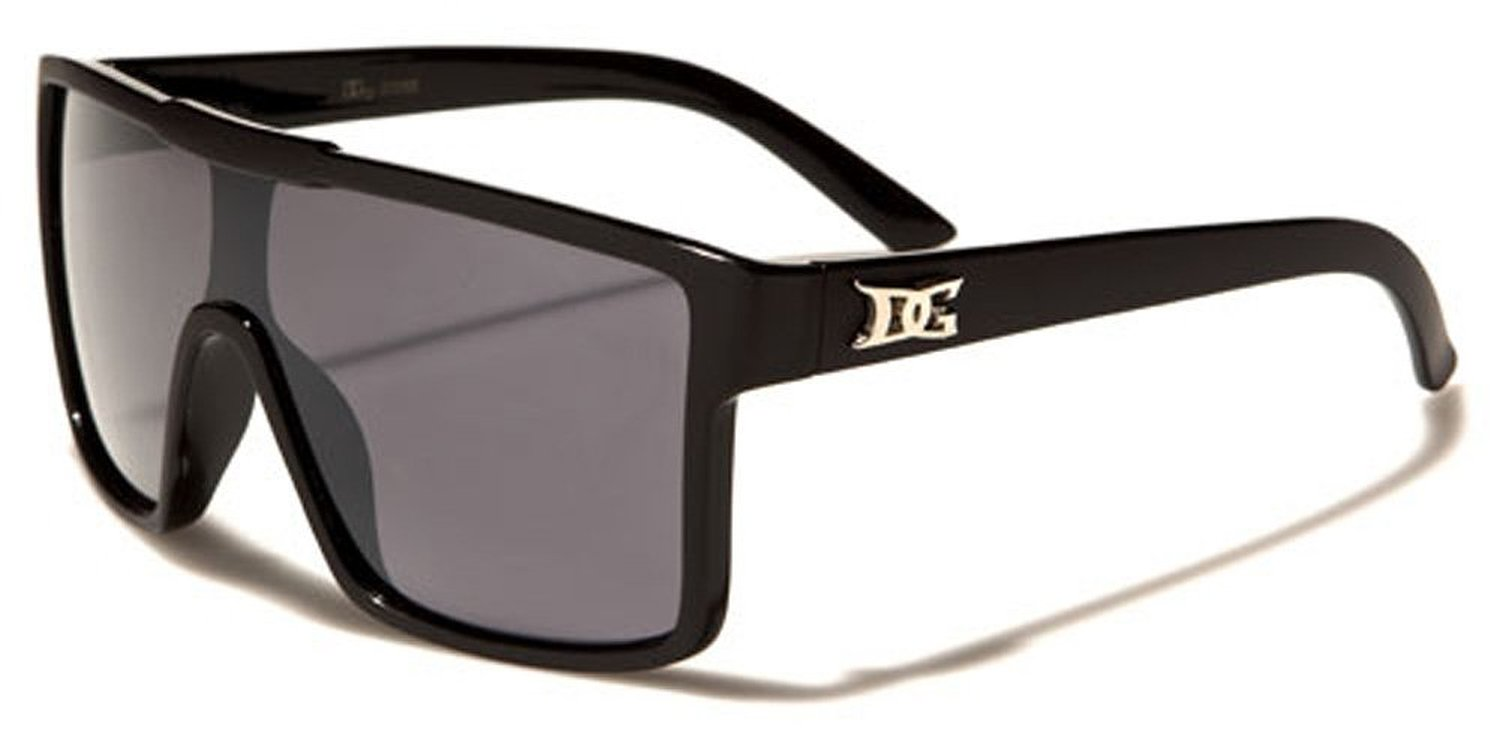 Men Flat Top Shield Sport Sunglasses