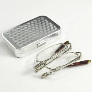 Rimless Lightweight Travel Readers with Gel Temples and Case