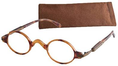 ICU Updated Unisex V Bridge Reading Glasses with Case