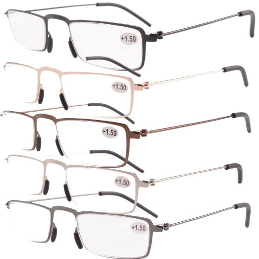 Valupac Reading Glasses includes Brown, Gold, Black, Silver and Gunmetal