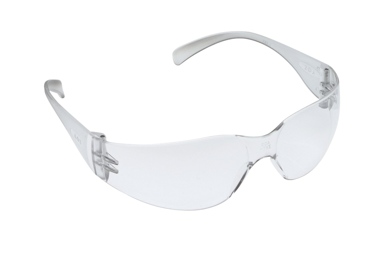 Virtua Anti-Fog Safety Glasses, Clear Frame, Clear Lens