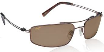 Maui Jim Whaler Sunglasses with Metallic Gloss Copper Frame and Bronze Lens