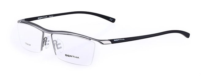 Bertha Pure Titanium Semi-rimless Eyeglasses for Men