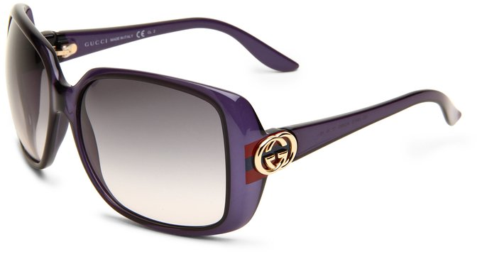 Gucci Blue and Opal Rectangular Sunglasses