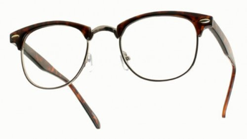 ClubsMen Half Frame Clear Reading Glasses
