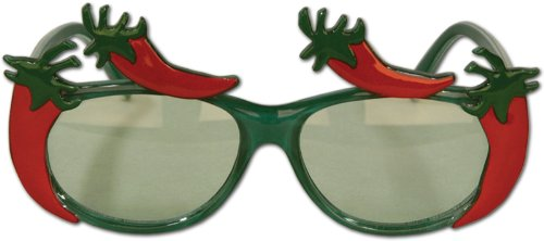 Cool And Funky Eyeglasses With Chili Peppers On Glasses