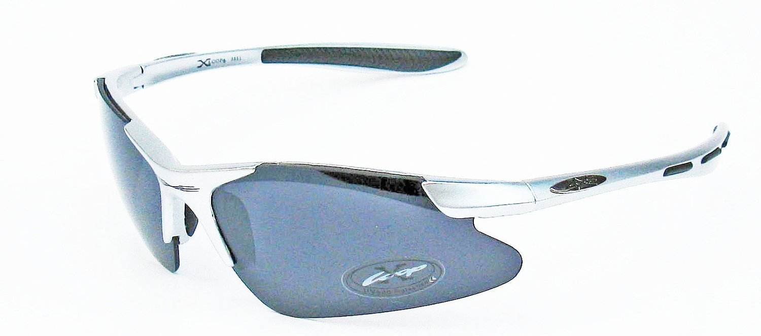 Triathlon and cycling Xloop silver sunglasses