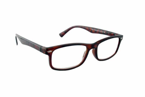 Rectangular Metal + 0.50 Diopter Strength Reading Glasses
