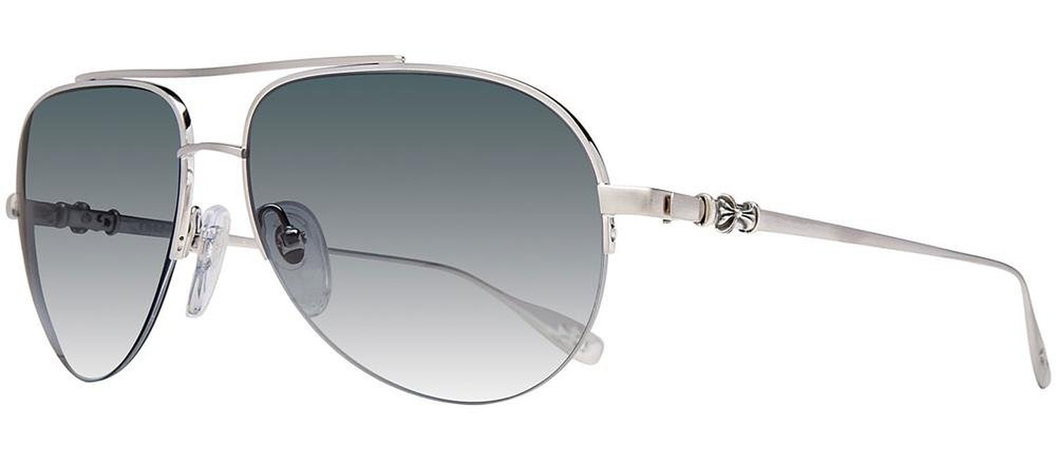 Chrome Hearts Stains Brushed Silver Sunglasses