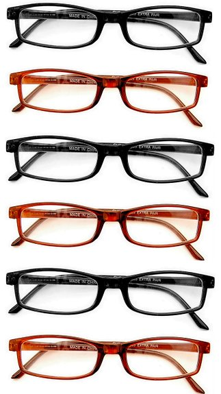 Great Value! Six pair of reading glasses for a great price!