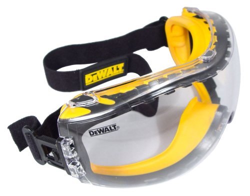 Dewalt Yellow Safety Goggles with Dual Mold Sealer
